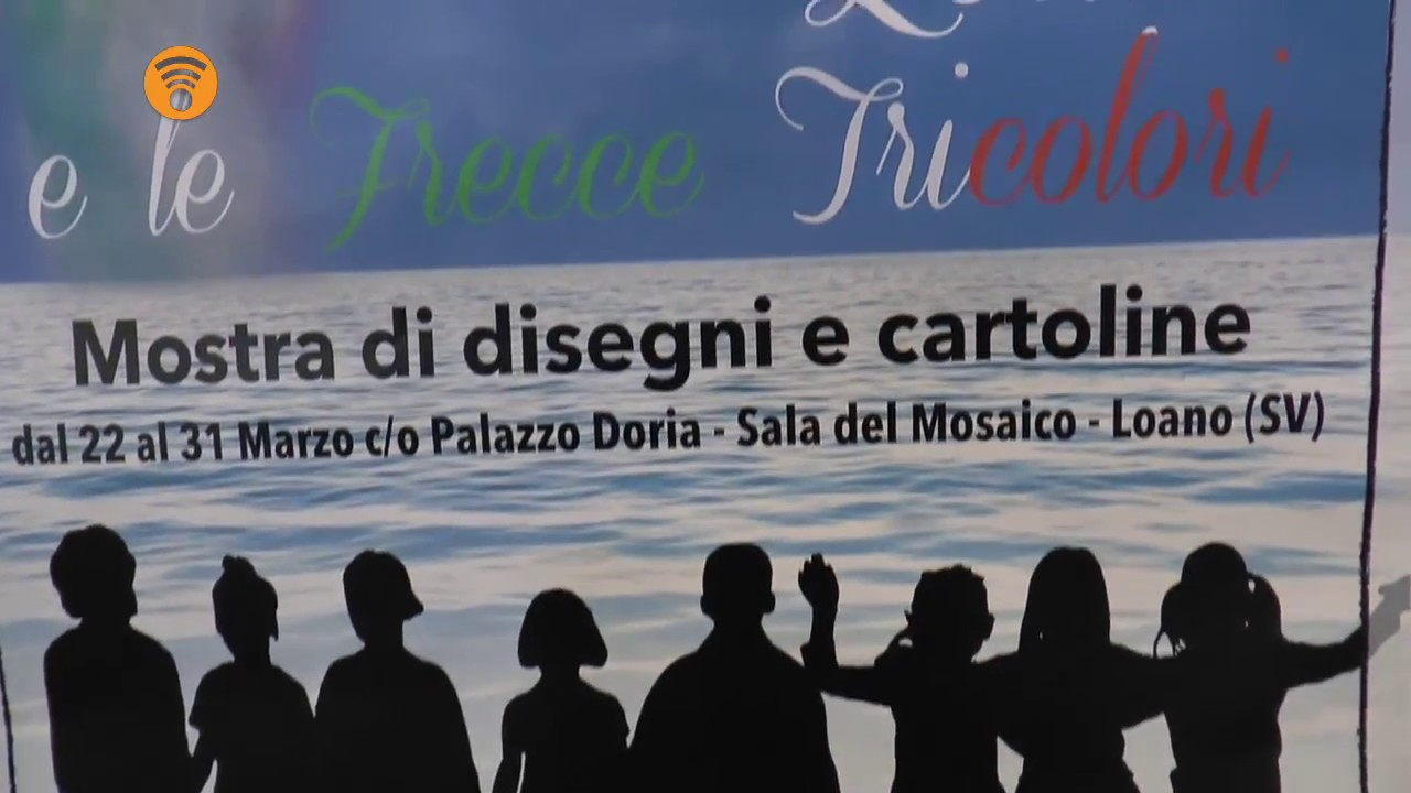 Loano e le Frecce Tricolori: collettiva di disegni e cartoline: video #1