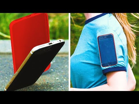 BRILLIANT PHONE LIFE HACKS || DIY Phone Cases And Holders From Recycled Materials 8