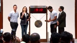 Ringing of the Opening Bell by Mumbai Indians