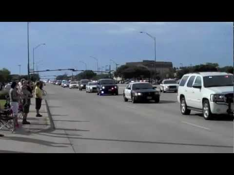 Funeral procession for Brian Bachmann