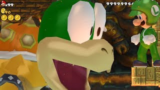 New Super Mario Bros. Wii - Final Boss Lemmy Koopa & Ending