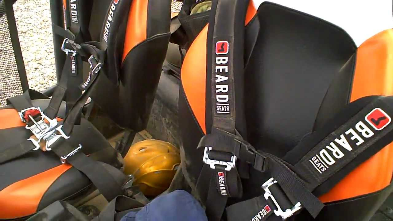 RZR 4 5-point harness - YouTube