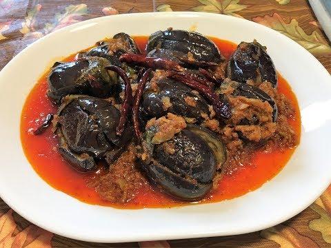 Myanmar Food Recipes Eggplant With Dried Shrimp Recipe ခရမ္းသီးနွပ္