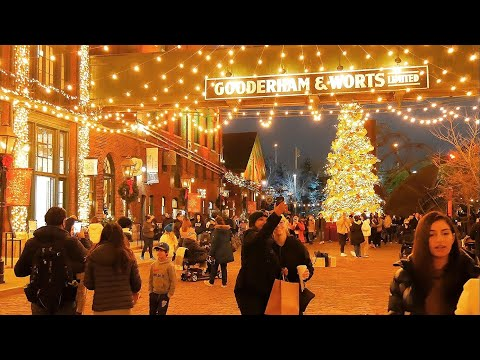 Winter Village Distillery District 2020 Christmas Market in Toronto Canada #DistilleryTO