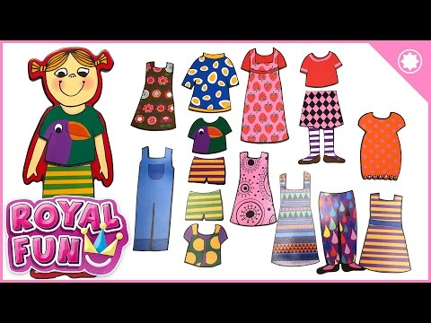 Paper Doll Dress-Up - Magnetic Cutout Paper Doll Surprise for Kids