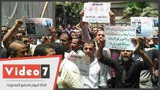 حاملو الماجستير والدكتوراه ينقلون وقفتهم إلى نقابة الصحفيين