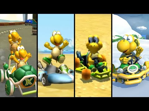 Evolution Of Koopa In Mario Kart (1992-2019)