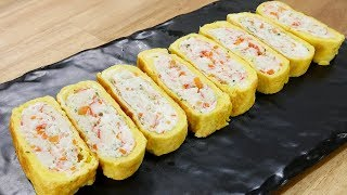 크래미 계란말이   Rolled Omelet With Crab Sticks