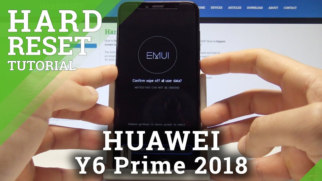 Hard Reset HUAWEI Y6 Prime 2018 - Remove Screen Lock / Wipe Data