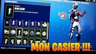 PRESENTATION DE MON CASIER FORTNITE 610€ DE SKINS