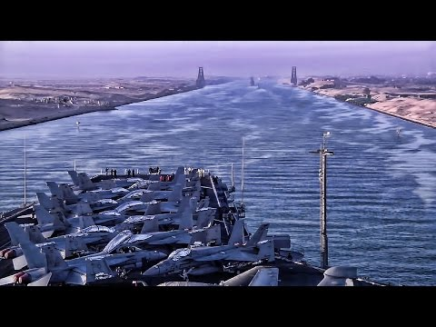 U.S. Aircraft Carrier • Transit Of The Suez Canal