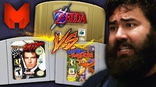 The BEST N64 Games? Ocarina of Time vs Banjo Kazooie vs GoldenEye 007 - Madness