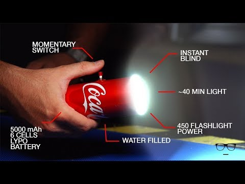 How To Make Powerful Flashlight with Coca Cola Can