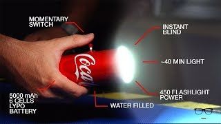 how to make powerful flashlight from coca cola