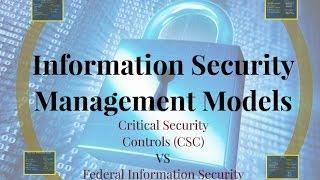 Information Security Management Model comparison