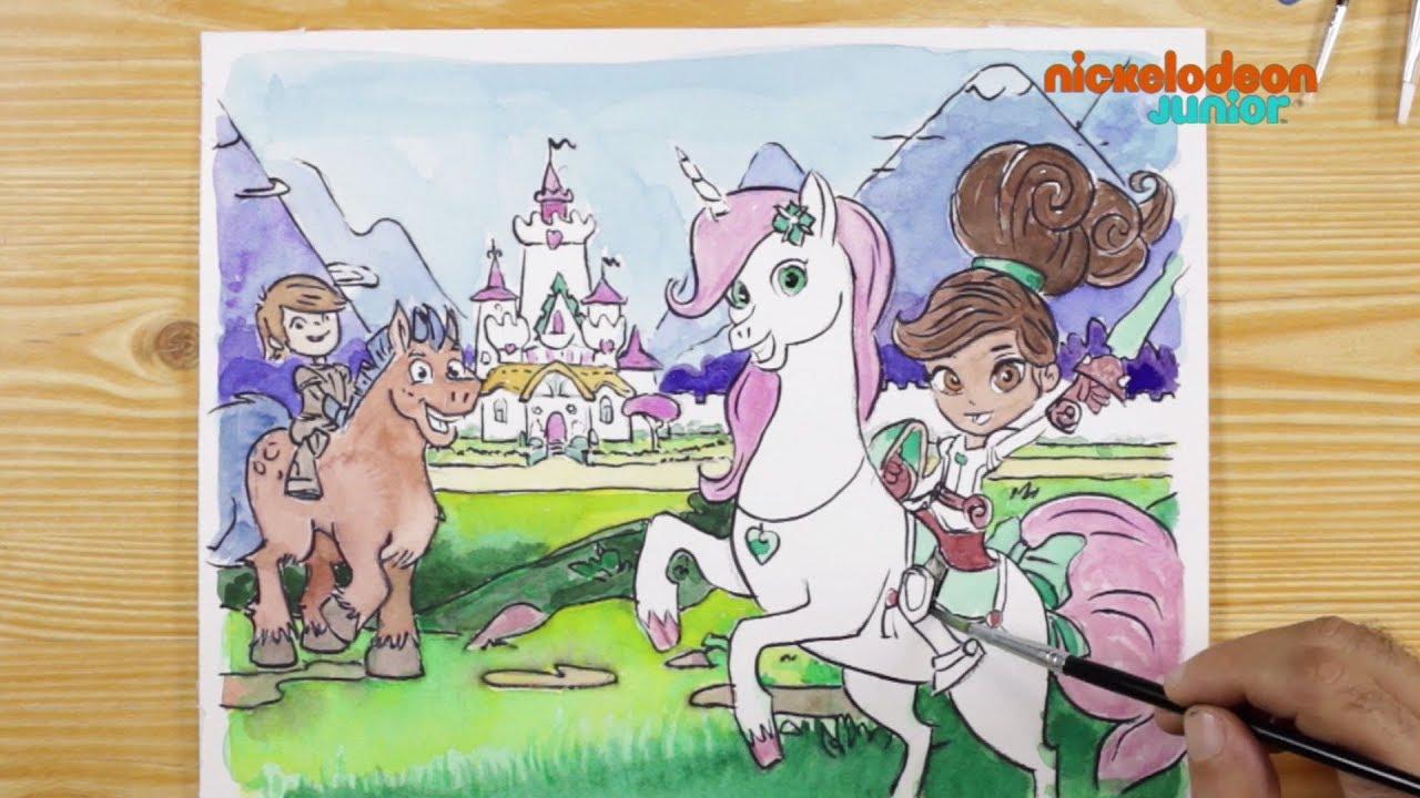 19, 19, 19 Coloriage !  Nella, Princesse Chevalier : Le Royaume de Nella   NICKELODEON JUNIOR