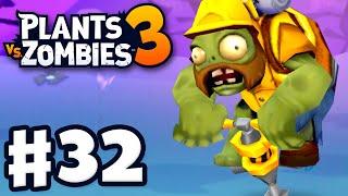 Jackhammer Zombies! - Plants Vs. Zombies 3 - Gameplay Walkthrough Part 32
