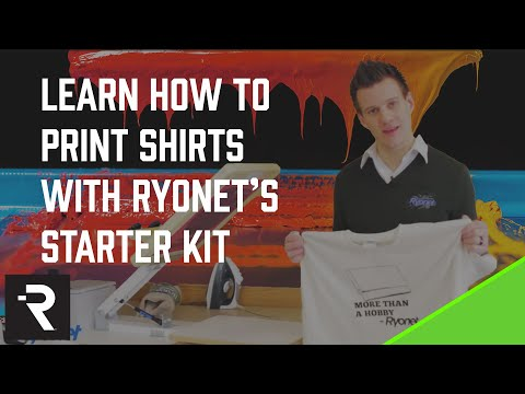 Ryonet's Screen Printing Starter Kit DVD Learn How-to Print