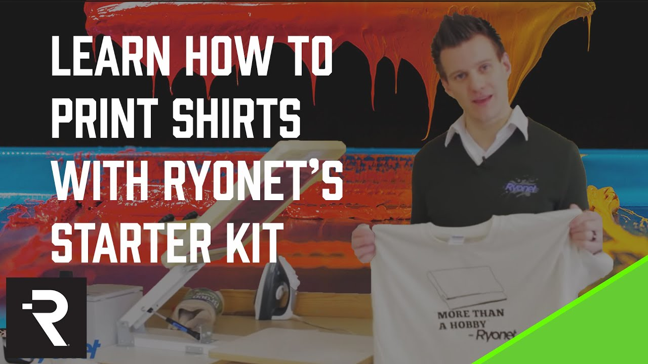 543a7123 Ryonet's Screen Printing Starter Kit DVD Learn How-to Print T-shirts ...