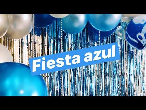Fiesta Azul Decoración Para Una Fiesta En Casa Yemaya Fiesta Tema Mar Youtube