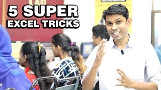 5 Super Excel tricks || Excel Tricks in Hindi || Excel Master tricks Explain in Hindi