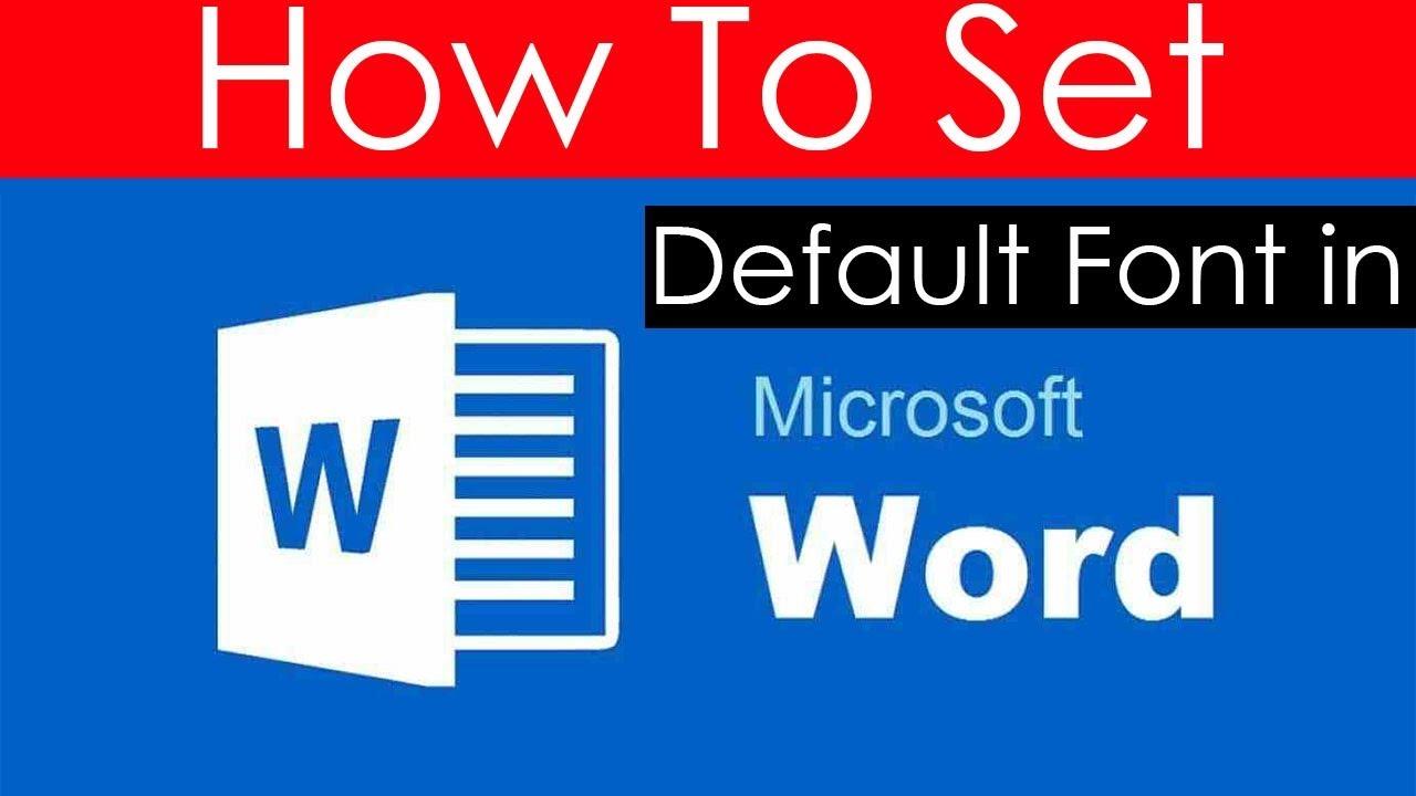 microsoft word default font 2016