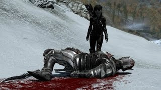 Skyrim - The Ebony Warrior (KILL IN ONE HIT)