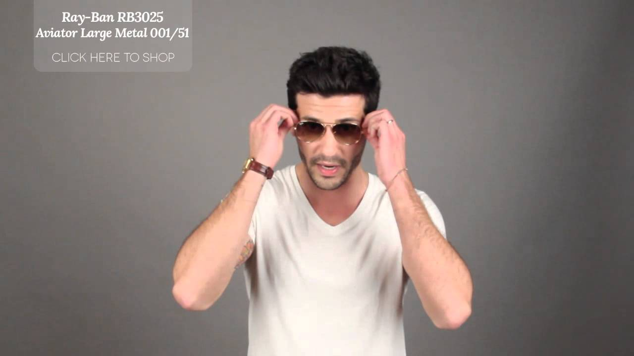 0ee94b8873dd6 Ray-Ban RB3025 Aviator Large Metal Sunglasses Review - YouTube