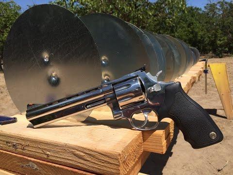 357 MAGNUM REVOLVER VS SHEET METAL