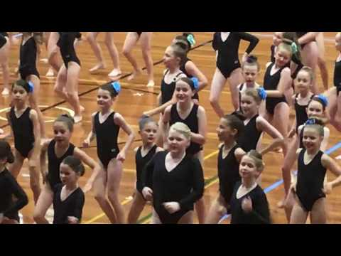 Moreton Bay Physie 2017, celebatory dance at the end of the comps.