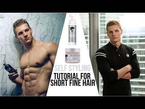 self-styling-tutorial-after-shower-on-men's-short-fine-hair-with-avenue-man-hair-products