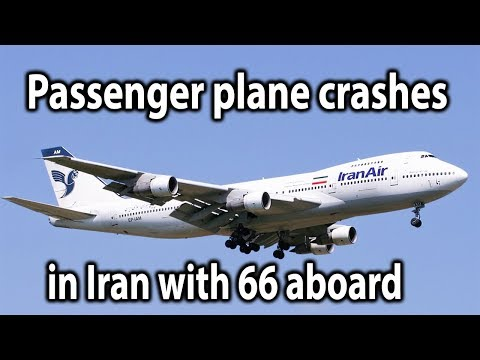 Passenger plane crashes in Iran with 66 aboard || World News Radio
