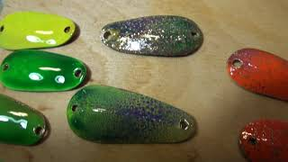 Рыбалка и блесна. Покраска колеблющихся блёсен аэрографом. Первые результаты. (Часть 17).