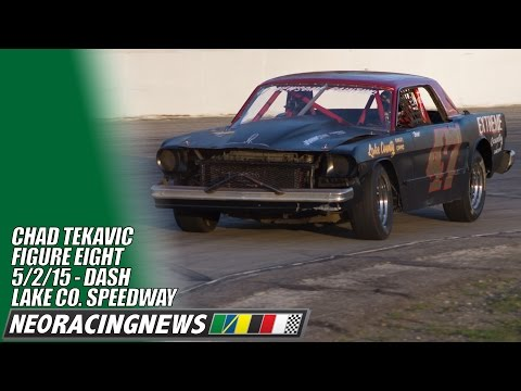 Chad Tekavic Figure Eight Dash @ Lake County Speedway - 5/2/14 - NEO Racing News