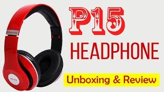 P15 Wireless Headphones Bluetooth Headset Unboxing & Review