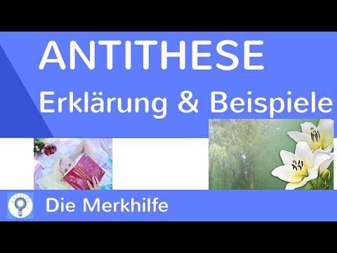 Antithese Was Ist Eine Antithese Erklarung
