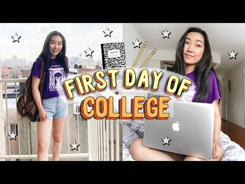 FIRST DAY OF COLLEGE - yikes - (Day in my life at NYU vlog) | JENerationDIY