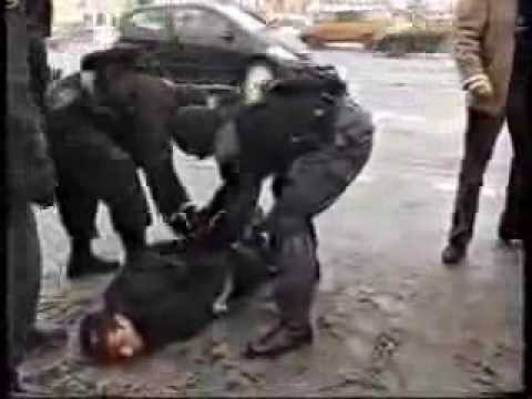 At the wrong time in the wrong place Russian police OMON