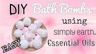 DIY EASY BATH BOMBS with ESSENTIAL OILS   Simply Earth
