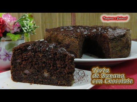 TORTA DE BANANA CON CHOCOLATE una delicia única