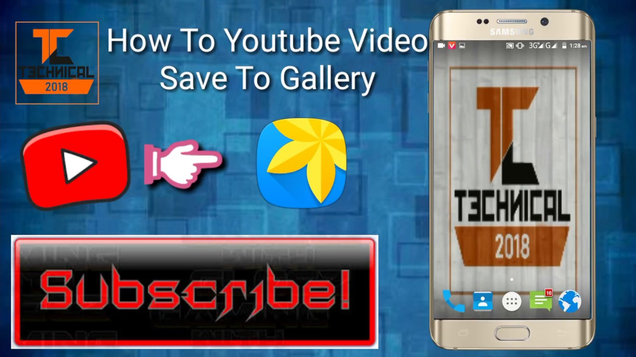 How to Youtube video save In Gallery easy way|| 100% Working Apk ||By  Technical Guru 2018