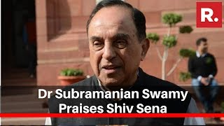 BJP Leader Dr Subramanian Swamy Praises Shiv Sena For Abstaining From Voting On CAB