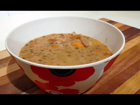 How To Make Low Carb Creamy Ham And Lentil Soup