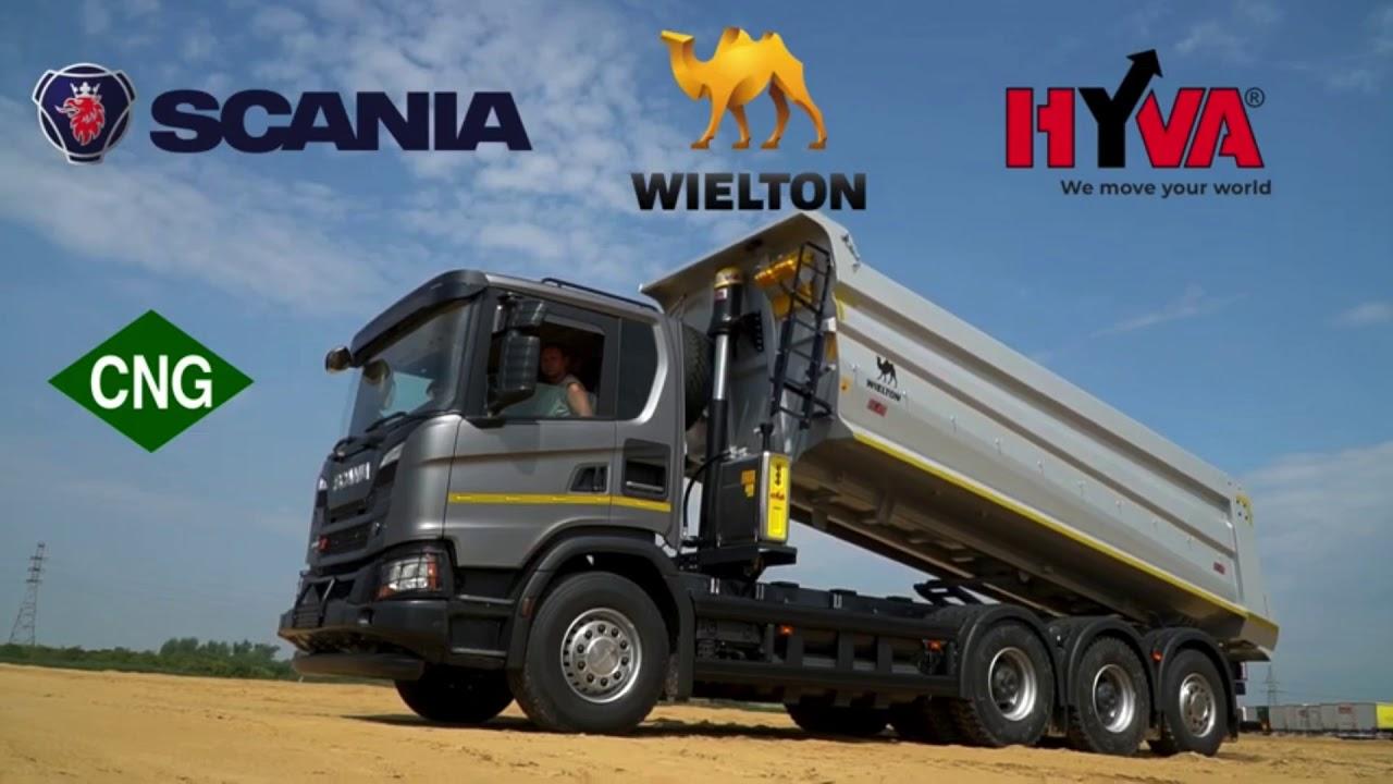 Самосвал Scania на метане