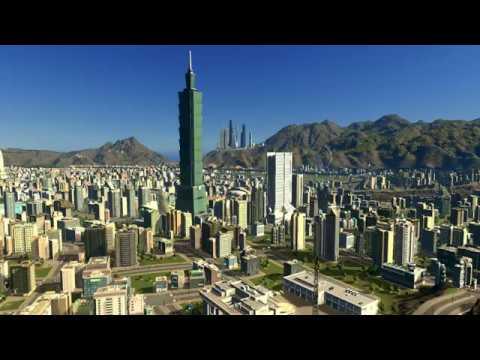 台北市 城市:天際線 中華民國國旗歌 Cities: Skylines Taipei