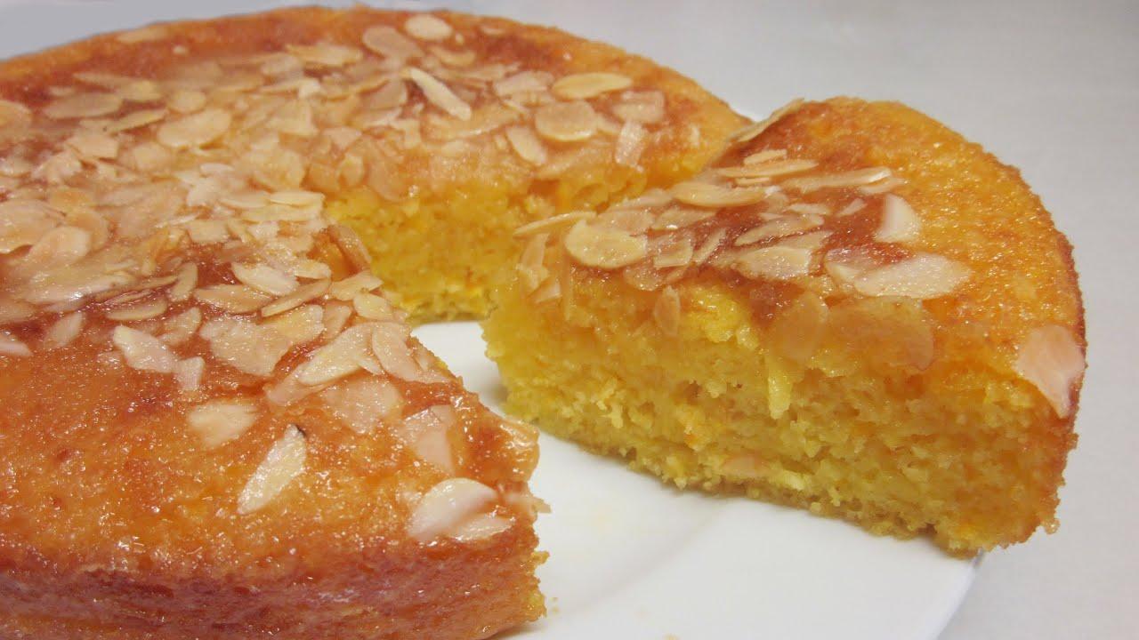 Bizcocho jugoso de naranja muy r pido y f cil youtube for Bizcocho de yogur y almendra