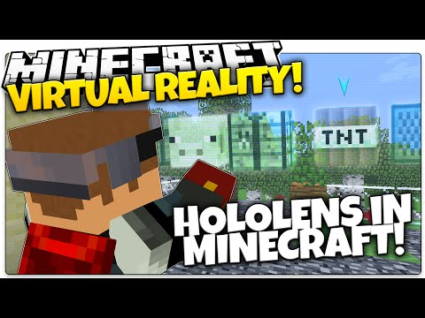 Minecraft Hololens | VIRTUAL REALITY! | Microsoft Hololens In Minecraft
