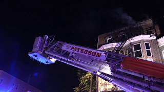 Paterson NJ Fire Department 2nd Alarm Fire 324 Market St