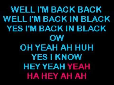 AC DC Back In Black karaoke HQ