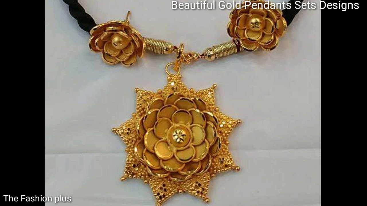Beautiful New Collection Of Gold Pendants Sets Designs - YouTube